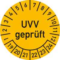Uvv Pruefplakette